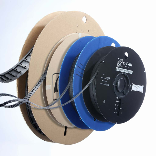 Different carrier tapes on reels