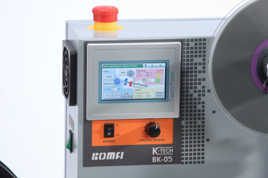 Taping Machine BK05: Input unit with touch panel