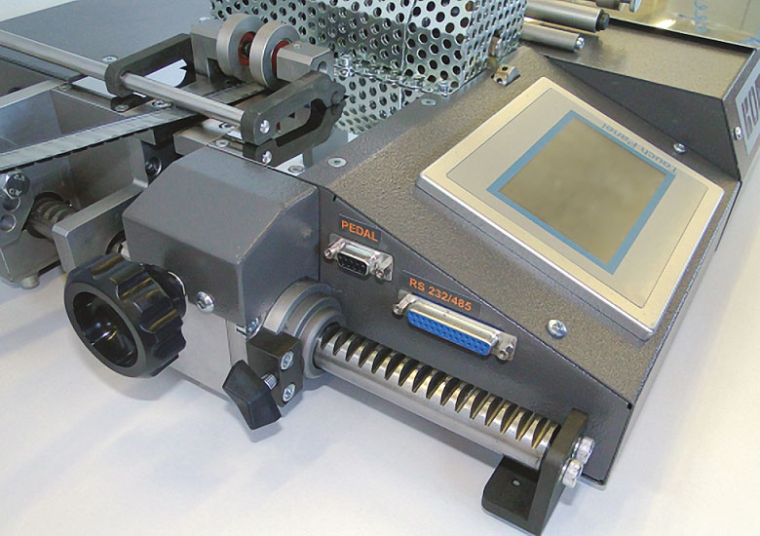 Taping machine BE-01: Tape width adjustment